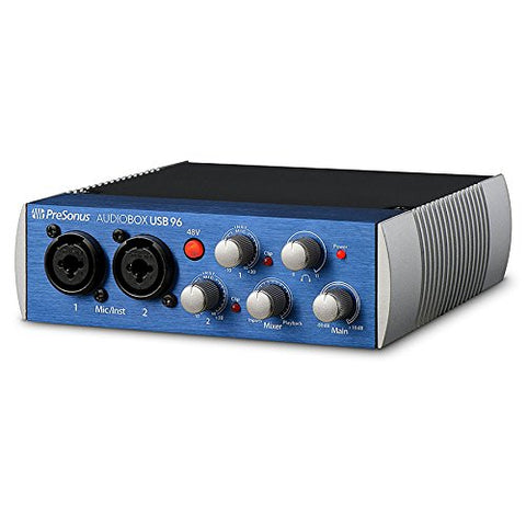PreSonus AudioBox USB 96 2x2 USB 2.0 Recording System with Studio One Blue