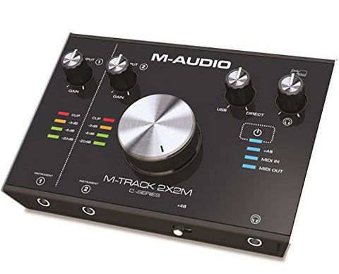 M-Audio M-Track 2X2M C-Series | 2-in/2-out USB Audio Interface with MIDI (24-bit/192kHz) (Refurb)