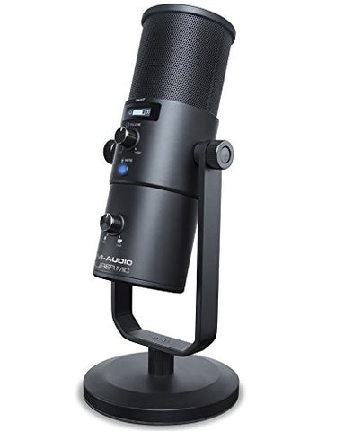 M-Audio Uber Mic Professional USB Microphone with Headphone Output & 4 Selectable Polar Patterns