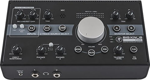 Mackie BIG KNOB STUDIO Monitor Controller and 3x2 Interface with Software (Refurb)