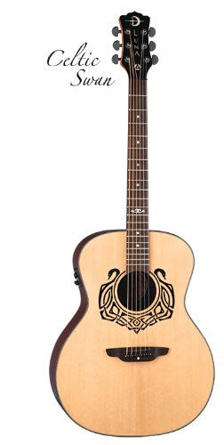 Luna Celtic Swan Solid Top Spruce, rw full GC, CEL SWAN