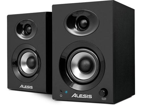 Alesis Elevate 3 MKII Powered 20W Desktop Studio Multimedia Gaming PC Speakers