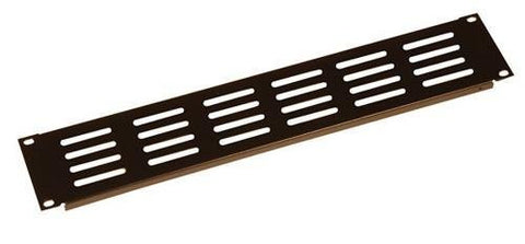 Gator GRW-PNLVNT2 Gator Rackworks Slotted Panel; Elongated Vent Holes; 1.2mm; Flanged for Rigidity; 2U