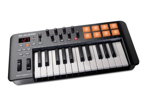 M-Audio Oxygen 25 MKIV | 25-Key USB MIDI Keyboard & Drum Pad Controller (8 Pads / 8 Knobs) Refurb