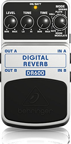 Behringer DIGITAL REVERB/DELAY DR600 Digital Stereo Reverb/Delay Effects Pedal