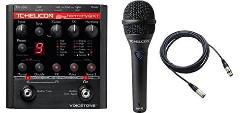 TC Electronic Voicetone HGXT Vocal Pedal and TC MP75 Mic & Cable Bundle