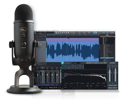 Blue Yeti Studio Blackout Professional USB Vocal Recording System with Multi-Track Recording-Mastering Software and Custom Templates