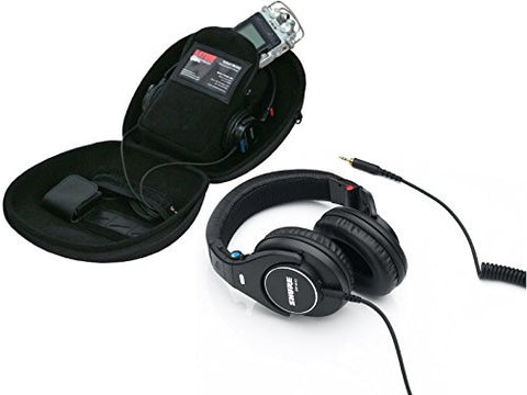 Shure SRH840 Professional Monitor Headphones with Gator Recorder Case for Recorders, Headphones & Accessories