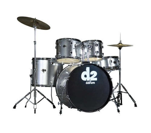 DDrum D2 Drum Set 5pc - Brushed Silver