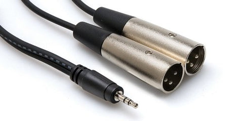 Hosa Y CABLE 3.5MM TRS - XLR3M 2M