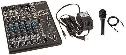 Mackie 802VLZ4, 8-channel Ultra Compact Mixer with Onyx Preamps bundled with mic and cable