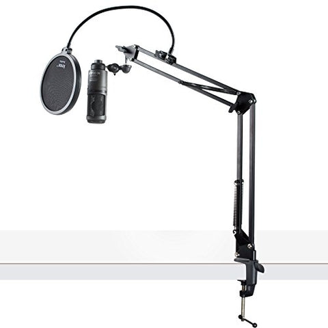 Audio-Technica AT2020USB+ Condenser USB Microphone with Pop Filter & Boom Arm