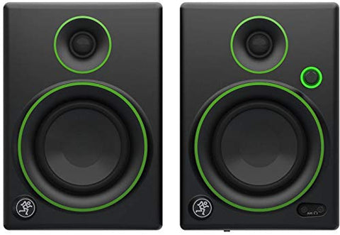 Mackie Creative Reference Multimedia Monitor (Set of 2), Black w/green trim, 4-inch (CR4 (Pair)) Refurb