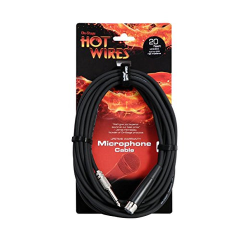 Hot Wires MC1220HZ 20-Feet XLR to 1/4-Inch Microphone Cable