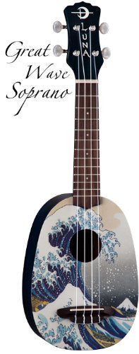Luna Ukulele Great Wave Soprano with gigbag, UKE GWS