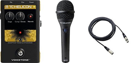 TC Helicon VoiceTone T1 and TC MP75 Mic & Cable Bundle