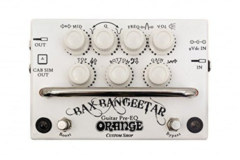Orange Bax Bangeetar Guitar Pre-EQ White Guitar Effects Pedal (Refurb)