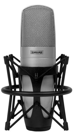 Shure KSM32/SL Embossed Single-Diaphragm Cardioid Condenser Studio Microphone, Champagne