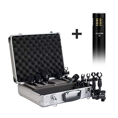 Audix FP5 Plus: A 6-Piece Drum Microphone Kit w/Clips & Aluminum Carrying Case