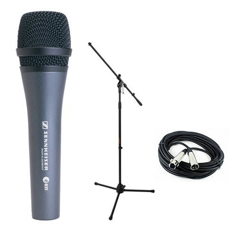 Sennheiser E835 Dynamic Handheld Vocal Mic with Stand & Cable Performance Kit