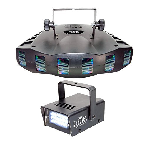 NEW! CHAUVET DERBY X RGB DMX Pro DJ Club Effect Strobe Light + Mini Strobe Light
