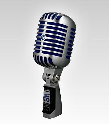 Shure Super 55 Deluxe Vocal Microphone (Chrome) (Refurb)