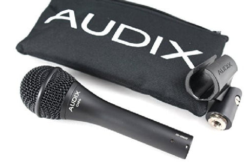Audix OM6 Microphone Bundle with Free Mic Boom Stand, XLR Cable and Pop Filter Popper Stopper