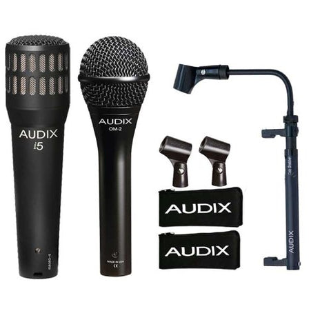Audix Power Trio Bundle with Audix OM2, i5, and CabGrabber Bundle