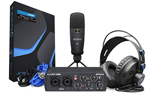 PreSonus AudioBox 96 USB Interface Recording Bundle+Headphone+Mic+Studio One software
