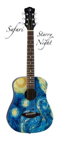 Luna Safari Starry Night Travel Guitar, SAF STR (Refurb)