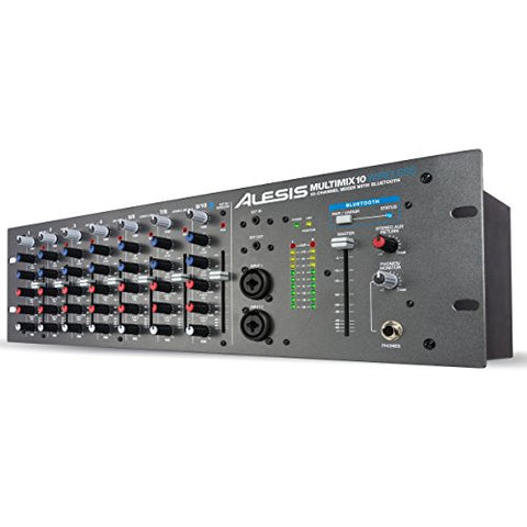 Alesis Multimix 10 Wireless | 10-Channel Mixer with Integrated Bluetooth Wireless Capability