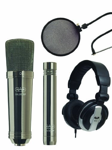 CAD GXL2200BPSP Cardioid Condenser Microphone with Black Pearl Chrome finish Studio Pack (Refurb)