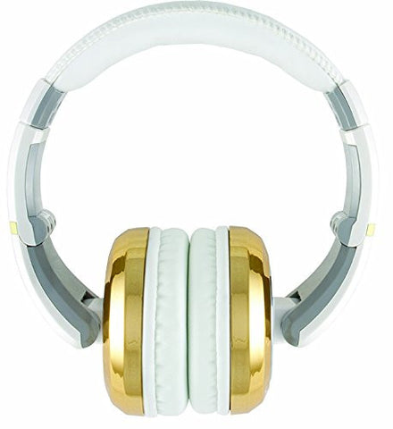 CAD The Sessions Professional Closed-Back Studio Headphones by CAD Audio, White with Gold (Refurb)