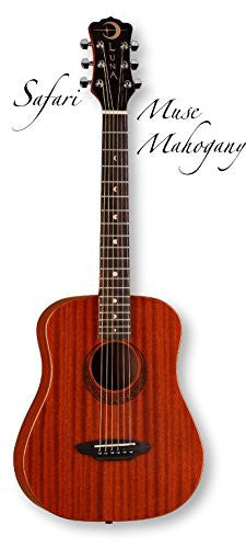 Luna Safari Muse Travel Guitar Mahogany w/bag