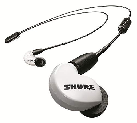 Shure SE215 Wireless Earphones with Bluetooth 5.0, Sound Isolating, SE215SPE-W+BT2 Special Edition White