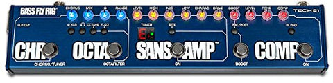 Tech 21 Bass Fly Rig - SansAmp, Comp, OCTAFILTER, Chorus and Boost in One Pedal (Refurb)