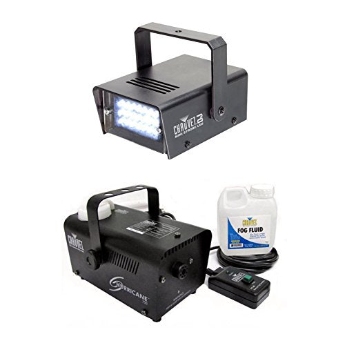 NEW CHAUVET CH-730 LED Mini Strobe Light + Hurricane 700 H-700 Fog Smoke Machine