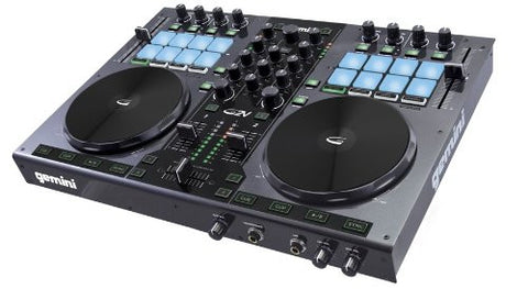 Gemini DJ G2V DJ Controller 2 Channel Midi Controller with Soundcard