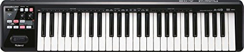 Roland A-49 Lightweight 49-Key MIDI Keyboard Controller, Black