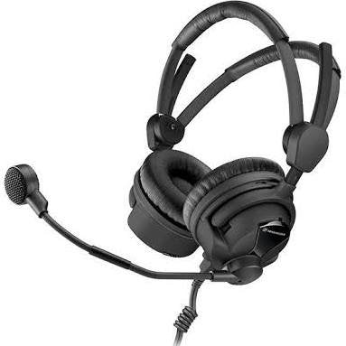 Sennheiser HMD 26-II-600-X3K1 Broadcast Headset, 600 Ohm Impedance, ActiveGard, Dynamic Microphone