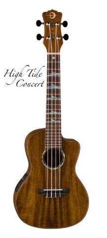 Luna Ukulele High Tide Concert with preamp, UKE HTC KOA