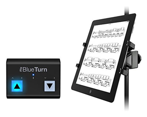 IK Multimedia CBBTXPHCDIN iRig Blueturn + iKlip Xpand Bundle Tablet Page Turner Bundle