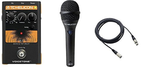 TC Helicon VoiceTone E1 and TC MP75 Mic & Cable Bundle