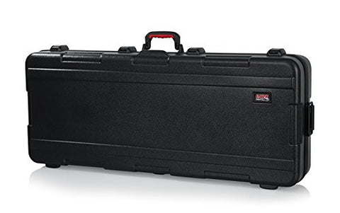 Gator TSA Series ATA Molded Polyethylene Keyboard Case with Wheels for Slim Extra Long 88-note Keyboards