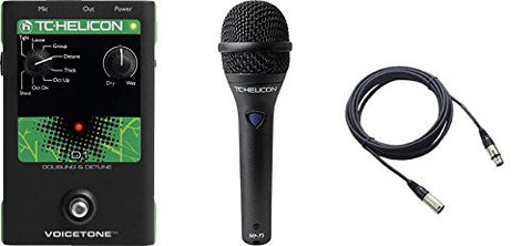 TC Helicon VoiceTone D1 and TC MP75 Mic & Cable Bundle