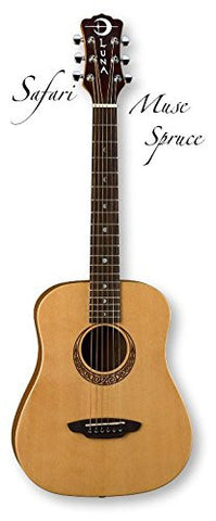 Luna Safari Muse Travel Guitar Spruce w/bag
