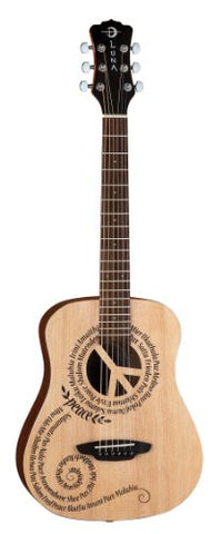Luna Safari Peace Travel Guitar w/ gigbag, SAF PCE