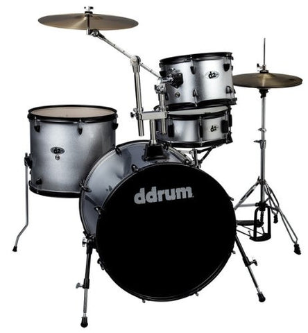 DDrum D2 Rock Kit Silver Spkl W/ Blk Hardware