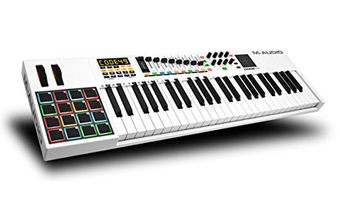 M-Audio Code 49 | 49-Key USB MIDI Keyboard Controller (Refurb) with X/Y Touch Pad (16 Drum Pads / 9 Faders / 8 Encoders)- Refurbished