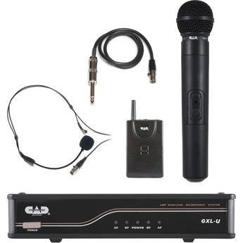 CAD GXLUHB UHF Wireless Combo System- Handheld and Bodypack Microphone System, K frequency (Refurb)